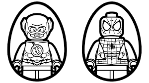 Small Picture Surprise Eggs Lego Flash vs Lego Spiderman Coloring Pages Coloring