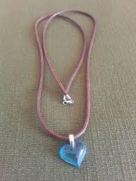 lalique crystal heart pendant
