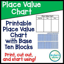 Magnetic Place Value Chart Esl Ell Place Value Chart With Base Ten Block Printables Vipkid