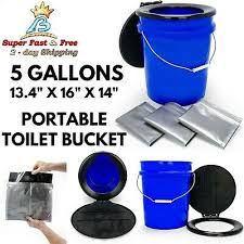 5 gallon camping emergency toilet life