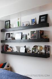 diy floating shelves free plans i love the dark stain
