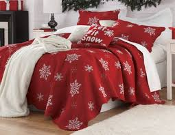 Snowflake Embroidered Cotton Quilt from Country Door & Snowflake Embroidered Cotton Quilt Adamdwight.com