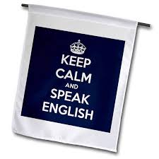 3drose Evadane Funny Quotes Keep Calm And Speak English 12 X 18 Inch Garden Flag Fl1498391