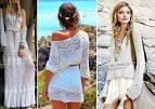 Бохо платье вязание