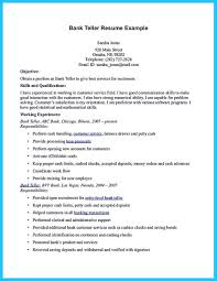 Objective For Resume For Bank Job Objective For Resume For Bank Teller Sevte 100