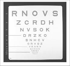 Snellen Eye Chart Normal Results Low Contrast Letter Acuity Chart Low Contrast Sloan Letter