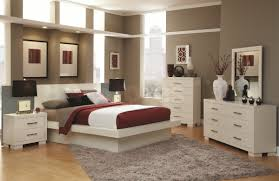 Neutral Color Bedrooms Small White Wooden Bed With Neutral Color Linen And Simple Plus