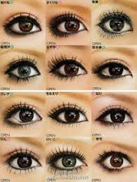 diffe gyaru eyes i usually wear something similar to the third one down the first