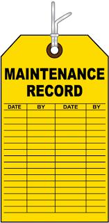 Maintenance Record Tag