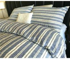 ticking stripe quilt navy and white duvet cover striped linen bed sheets brown ticking stripe quilt