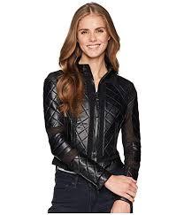 Blanc Noir Womens Moto Jacket
