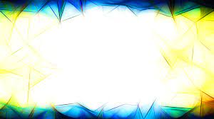 Abstract Blue Yellow and White Fractal ...