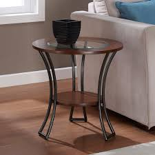 walnut end table. Carbon Loft Carlisle Walnut/ Charcoal Grey Round End Table Walnut C