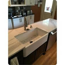 latoscana lfs3318w 33 single bowl farmhouse a front reversible fireclay rectangular kitchen sink