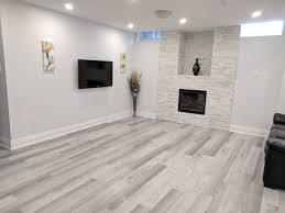 light grey vinyl plank flooring