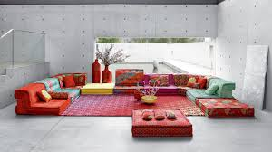 Roche bobois floor cushion seating Missoni Mah Jong Composition Hiru Kenzo Takada Roche Bobois Mah Jong Composition Missoni Home Roche Bobois