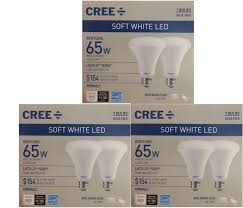 Cree Br30 Led Flood Light Cree 65w Equivalent 8 8w Soft White Led Dimmable Br30 Indoor Flood Bulb 6 Pack