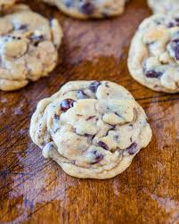 chocolate chip cookies with cornstarch fluffier used cookie scoop and baked for 10 minutes