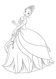 Small Picture Disney Princess Tiana Coloring Pages Coloring Home