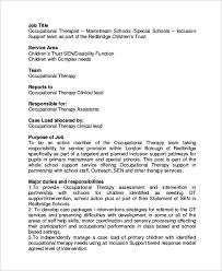 Occupational Therapist Job Description Sample Occupational Therapist Job Description 100 Examples in Word 2