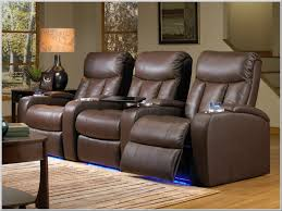 verona theater seating 3 brown leather chairs by seatcraft 841 power recline