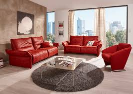 Metal Living Room Furniture Red Leather Living Room Sofa Furniture Designs With Black Round