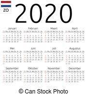 2020 Calendario Domenica Svedese Svedese Settimana Annuale No