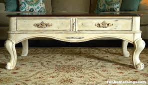 chalk paint coffee table makeover fun home things chalk paint coffee table