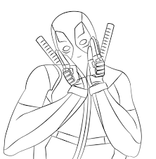 Small Picture Deadpool coloring pages Free Coloring Pages