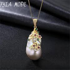 2019 vintage baroque pearl necklace 925 sterling silver baroque pearl pendant big nature jewerly each diffe from chunyushi 77 62 dhgate com