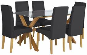 heart of house oakington glass table 6 chairs black from heart of house
