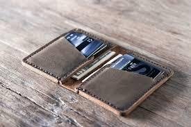 leather credit card holder for men