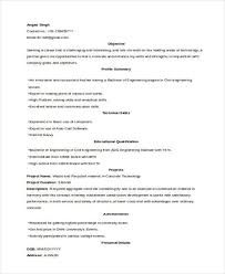 52 Resume Format Samples | Sample Templates