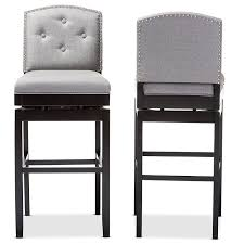 upholstered swivel counter stools. Unique Counter Amazoncom Baxton Studio Ginaro Modern U0026 Contemporary Fabric ButtonTufted Upholstered  Swivel Bar Stool Set Of 2 Grey Kitchen Dining For Counter Stools T