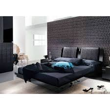 Bedroom Sweet Bedroom Design Ideas Using Black Leather Platform Bed