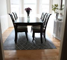 Under Dining Table Rugs Charming Ideas Dining Table Rug Incredible Rug Under Dining Room
