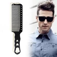 Pro 1 Pcs Anti Statische Kapper Kam Voor Hair Cut Hars Hittebestendige Clipper Kappers Mannen Kam Duurzaam En