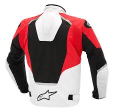t jaws jacket black white red