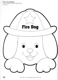 Fire Dog Plate Craft Education Ideas