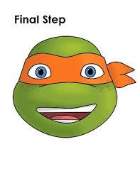 ninja turtles michelangelo face. Teenage Mutant Ninja Turtles Michelangelo Face With
