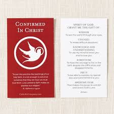confirmation gifts of the holy spirit prayer card