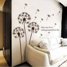 dandelion wall sticker on wall art family tree uk with trees flowers wall stickers birch tree white family tree large