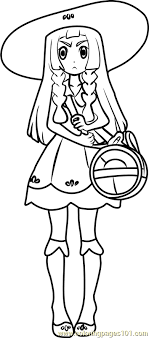 Small Picture Lillie Pokemon Sun and Moon Coloring Page Free Pokmon Sun and