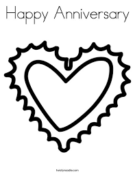 happy anniversary coloring pages. Brilliant Happy Heart Coloring Page For Happy Anniversary Pages E