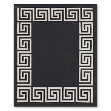 greek key border indoor outdoor rug black saved view larger roll over image to zoom