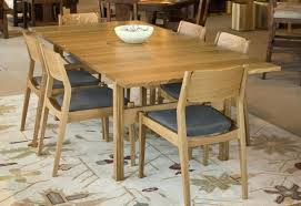 dining table and chairs chair in quartered white oak set round with legs quarter white and oak dining set table