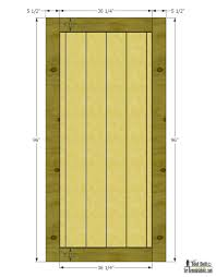 build a beautiful sliding barn door with great detail using siding free plans and tutorial