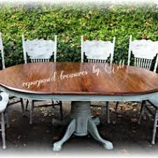 diy shabby chic dining table and chairs. distressed vintage solid oak repurposed upcycled country cottage, shabby chic, handpainted, chalk paint · dining tablesdinning diy chic table and chairs