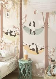 Pattern Wallpaper Of Panda Bears In The Woods Wallpaper Nursery Design