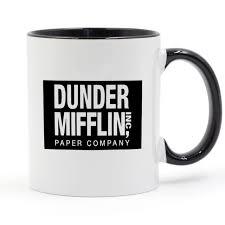 the office mugs. Dunder Mifflin (The Office) World\u0027s Best Boss TV Television Mug Black Handle Inside The Office Mugs I
